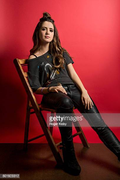 Actress Laura Marano poses for a portrait at the 16th Annual TJ Martell Foundation New York Family Day on December 13 2015 at Brooklyn Bowl in New...