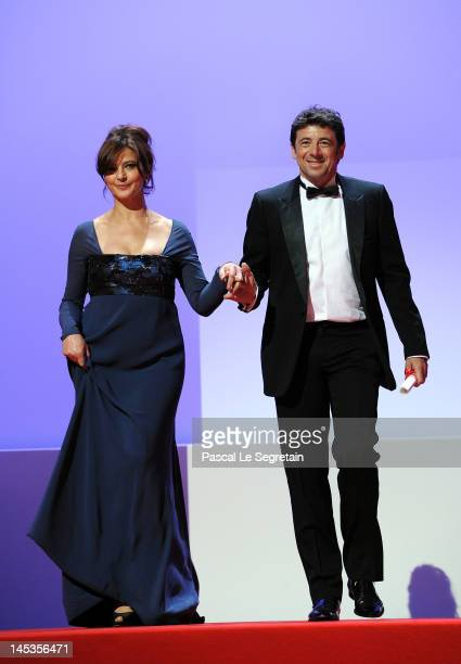 Actress Laura Morante and actor Patrick Bruel appear onstage at the Closing Ceremony during the 65th Annual Cannes Film Festival on May 27 2012 in...