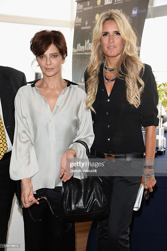 Actress Laura Morante and Tiziana Rocca attend Premio Kineo Photocall during the 70th Venice International Film Festival at Terrazza Maserati on September 1, 2013 in Venice, Italy.