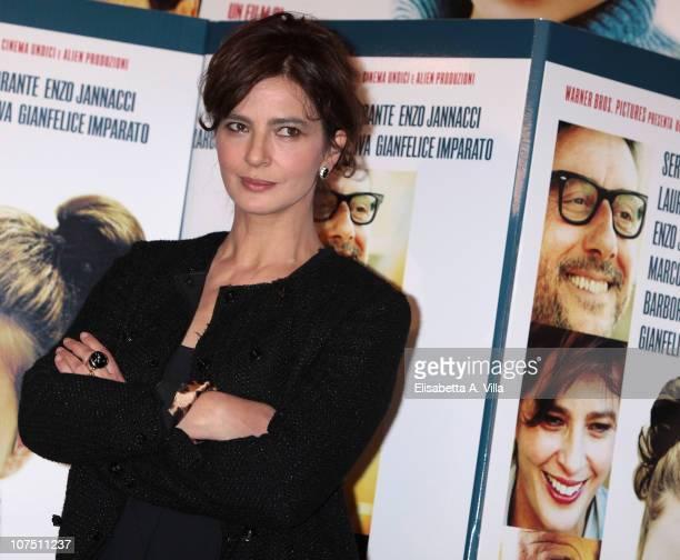 Actress Laura Morante attends 'La Bellezza Del Somaro' photocall at the Bernini Bristol Hotel on December 10 2010 in Rome Italy