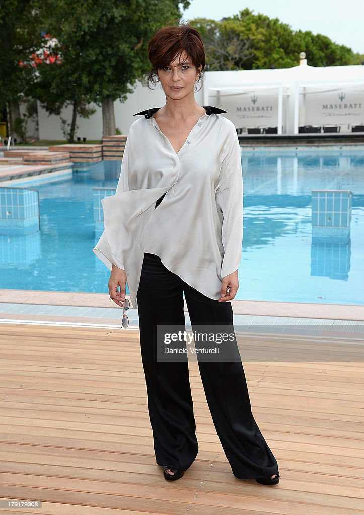 Actress <a gi-track='captionPersonalityLinkClicked' href=/galleries/search?phrase=Laura+Morante&family=editorial&specificpeople=2216249 ng-click='$event.stopPropagation()'>Laura Morante</a> attends Premio Kineo Photocall during the 70th Venice International Film Festival at Terrazza Maserati on September 1, 2013 in Venice, Italy.