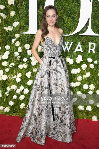 Actress Laura Osnes attends the 71st Annual Tony Awards at Radio City Music Hall on June 11 2017 in New York City
