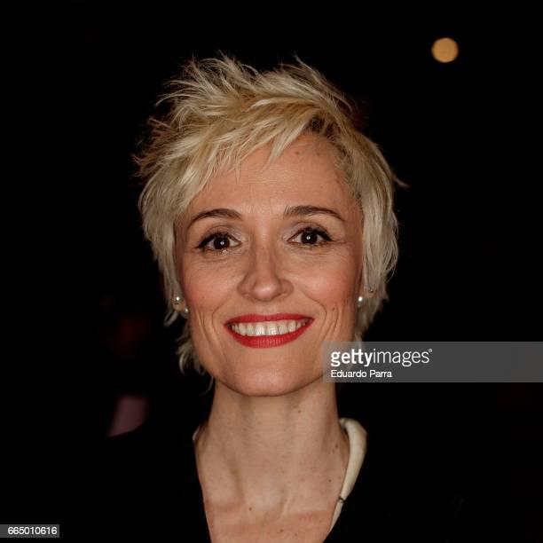Actress Laura Pamplona attends the 'El Pelotari y la Fallera' premiere at Callao cinema on April 5 2017 in Madrid Spain