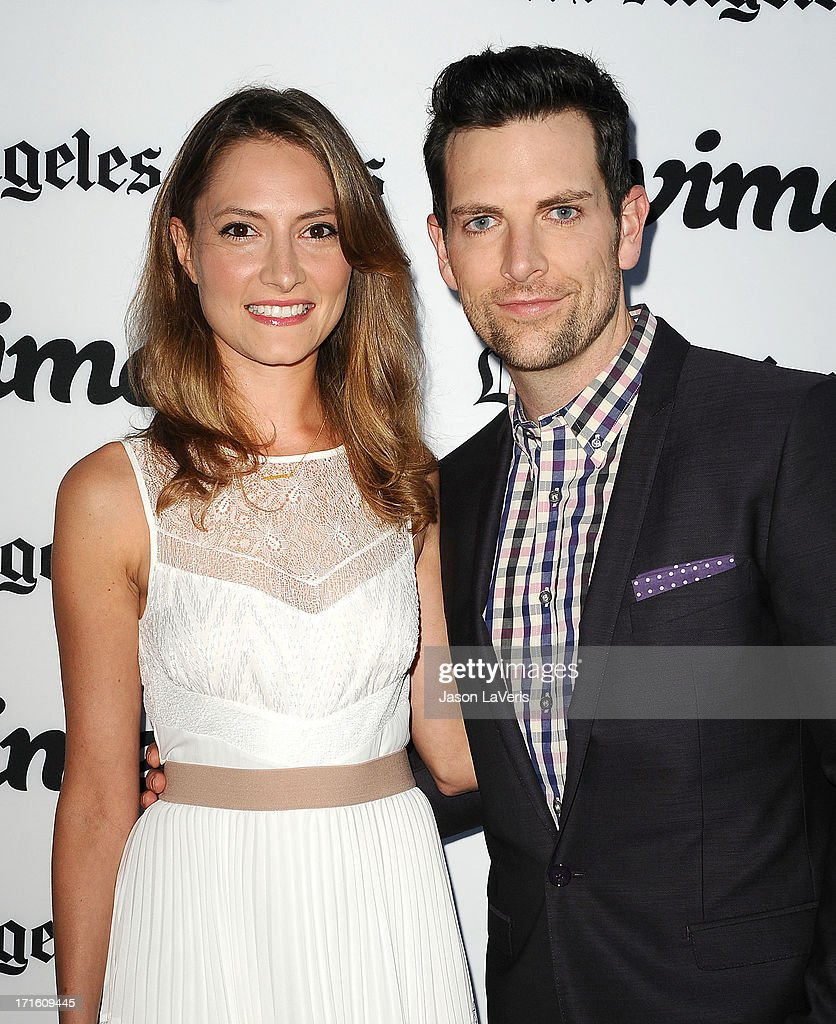 Actress Laura Perloe and singer Chris Mann attend the premiere of 'Some Girl' at Laemmle NoHo 7 on June 26 2013 in North Hollywood California