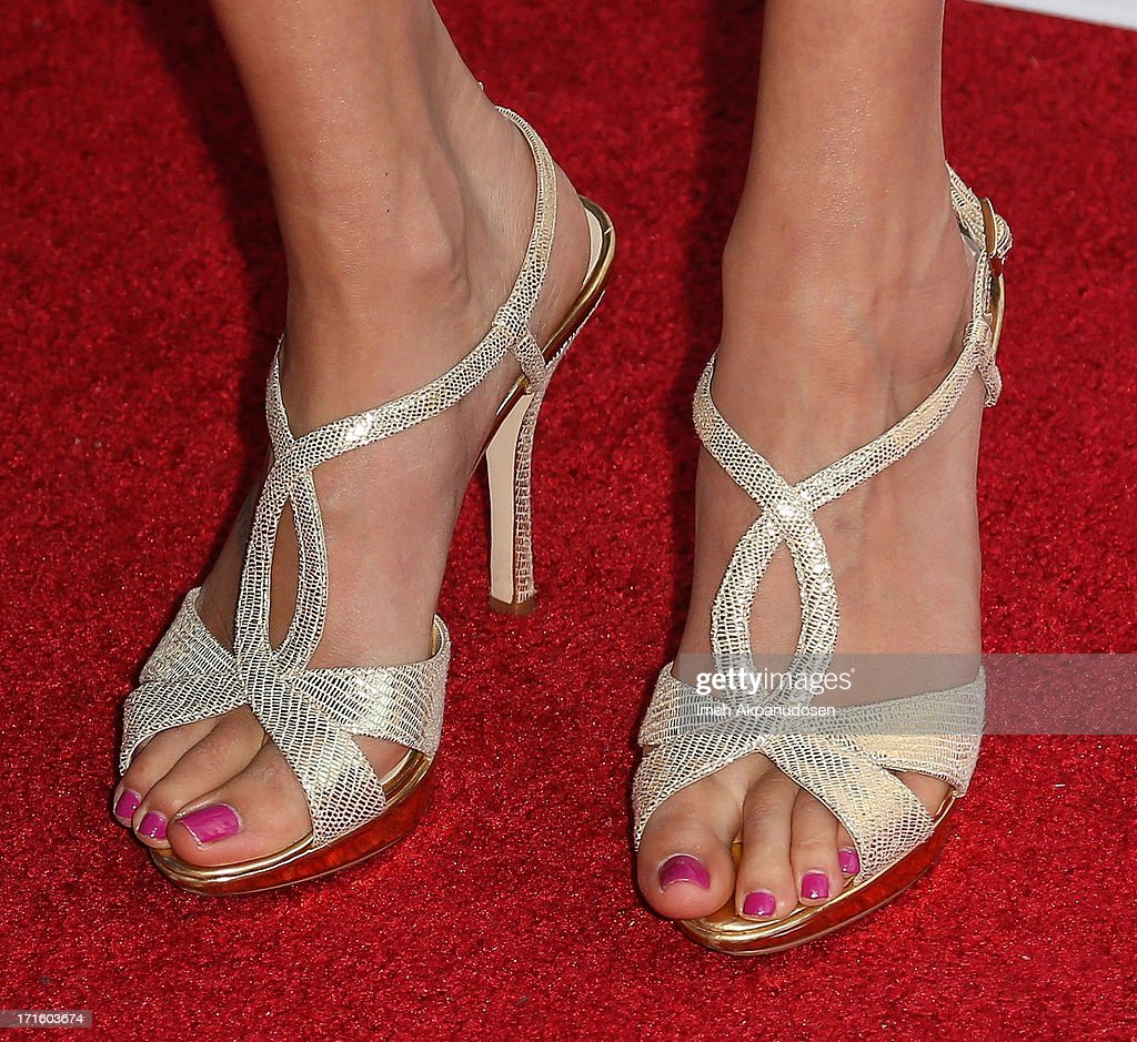 Actress Laura Perloe (shoe detail) attends the premiere of 'Some Girl(s)' at Laemmle NoHo 7 on June 26, 2013 in North Hollywood, California.