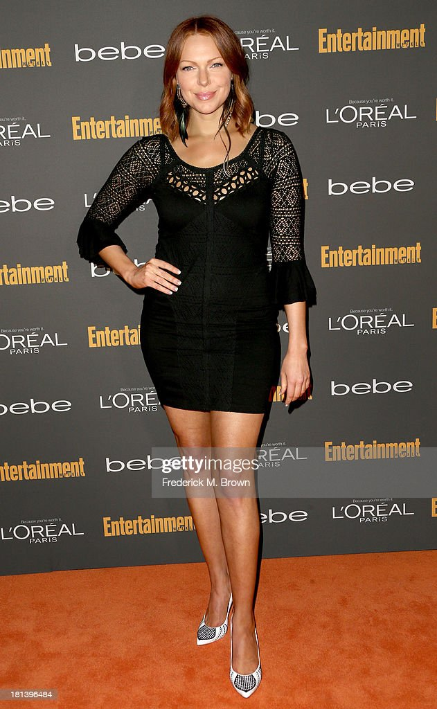 Actress <a gi-track='captionPersonalityLinkClicked' href=/galleries/search?phrase=Laura+Prepon&family=editorial&specificpeople=211299 ng-click='$event.stopPropagation()'>Laura Prepon</a> arrives at Entertainment Weekly's Pre-Emmy Party at Fig & Olive Melrose Place on September 20, 2013 in West Hollywood, California.