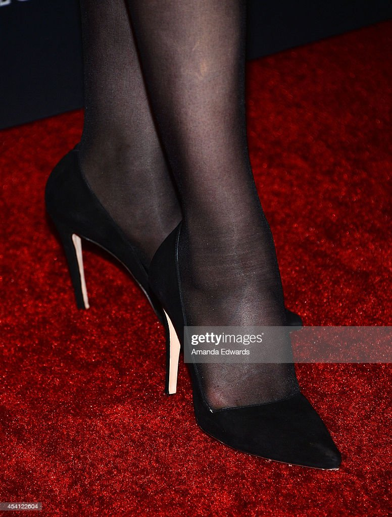 Actress Laura Prepon (shoe detail) arrives at the 2014 Entertainment Weekly Pre-Emmy Party at Fig & Olive Melrose Place on August 23, 2014 in West Hollywood, California.