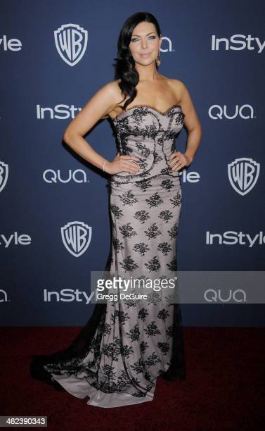 Actress Laura Prepon arrives at the 2014 InStyle And Warner Bros 71st Annual Golden Globe Awards postparty at The Beverly Hilton Hotel on January 12...