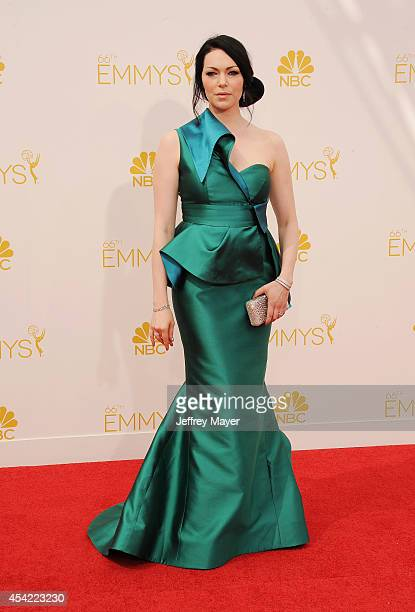 Actress Laura Prepon arrives at the 66th Annual Primetime Emmy Awards at Nokia Theatre LA Live on August 25 2014 in Los Angeles California