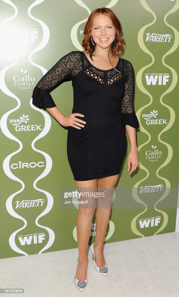 Actress <a gi-track='captionPersonalityLinkClicked' href=/galleries/search?phrase=Laura+Prepon&family=editorial&specificpeople=211299 ng-click='$event.stopPropagation()'>Laura Prepon</a> arrives at the Variety And Women In Film Pre-Emmy Party at Scarpetta on September 20, 2013 in Beverly Hills, California.