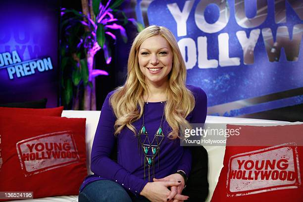 Actress Laura Prepon at the Young Hollywood Studio on January 6 2012 in Los Angeles California