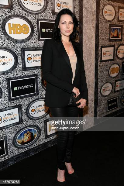 Actress Laura Prepon attends Family Equality Council's annual Los Angeles awards dinner at The Globe Theatre on February 8 2014 in Universal City...
