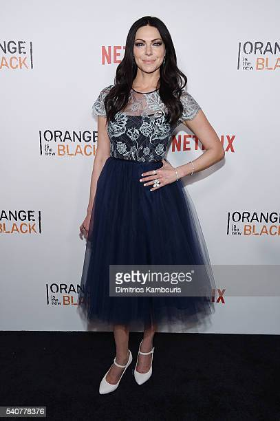 Actress Laura Prepon attends 'Orange Is The New Black' premiere at SVA Theater on June 16 2016 in New York City