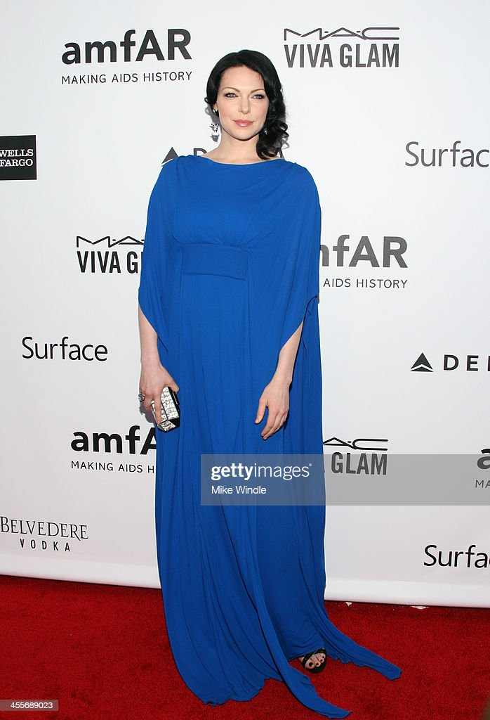 Actress <a gi-track='captionPersonalityLinkClicked' href=/galleries/search?phrase=Laura+Prepon&family=editorial&specificpeople=211299 ng-click='$event.stopPropagation()'>Laura Prepon</a> attends the 2013 amfAR Inspiration Gala Los Angeles at Milk Studios on December 12, 2013 in Los Angeles, California.