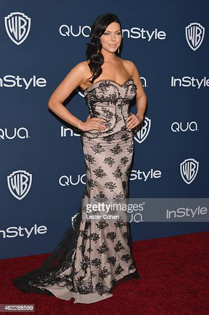Actress Laura Prepon attends the 2014 InStyle And Warner Bros 71st Annual Golden Globe Awards PostParty held at The Beverly Hilton Hotel on January...