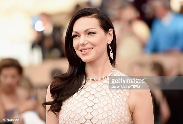 Actress Laura Prepon attends The 22nd Annual Screen Actors Guild Awards at The Shrine Auditorium on January 30 2016 in Los Angeles California...