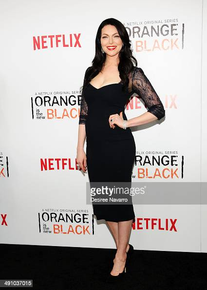 Actress Laura Prepon attends the 'Orange Is The New Black' season two premiere at Ziegfeld Theater on May 15 2014 in New York City