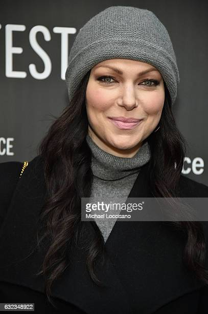 Actress Laura Prepon attends the 'The Hero' premiere on day 3 of the 2017 Sundance Film Festival at Library Center Theater on January 21 2017 in Park...