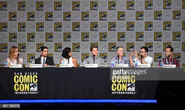 Actress Laura Regan actor Wilmer Valderrama actress Meagan Good actor Stark Sands and producers Kevin Falls Max Borenstein and Darryl Frank attend...