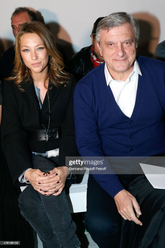 Actress laura Smet and CEO Galliano <a gi-track='captionPersonalityLinkClicked' href=/galleries/search?phrase=Sidney+Toledano&family=editorial&specificpeople=758670 ng-click='$event.stopPropagation()'>Sidney Toledano</a> attend the John Galliano show as part of the Paris Fashion Week Womenswear Fall/Winter 2014-2015 on March 2, 2014 in Paris, France.