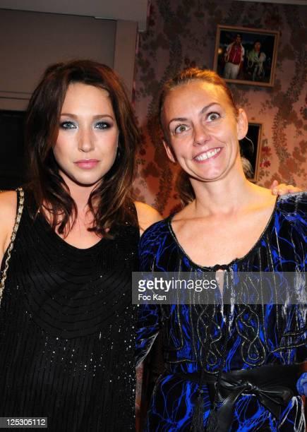Actress Laura Smet and fashion designer Gabriella Cortese from Antik Batik attend the Antik Batik Exhibition Launch of Thierry Le Goues Paris Fashion...