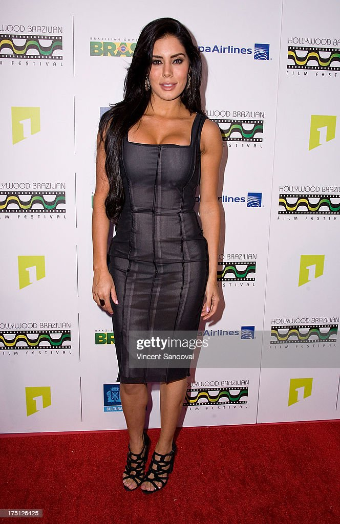 Actress Laura Soares attends the 5th annual Hollywood Brazilian Film Festival at the Egyptian Theatre on July 31, 2013 in Hollywood, California.