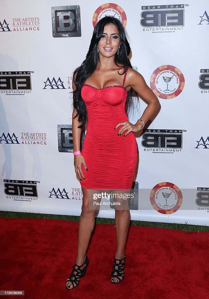 Actress Laura Soares attends the 8th annual BTE All-Star Celebrity Kickoff Party at The Playboy Mansion on July 15, 2013 in Beverly Hills, California.