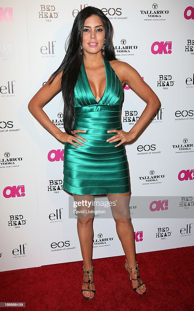 Actress Laura Soares attends the OK! Magazine 'So Sexy' LA party at SkyBar at the Mondrian Los Angeles on April 17, 2013 in West Hollywood, California.