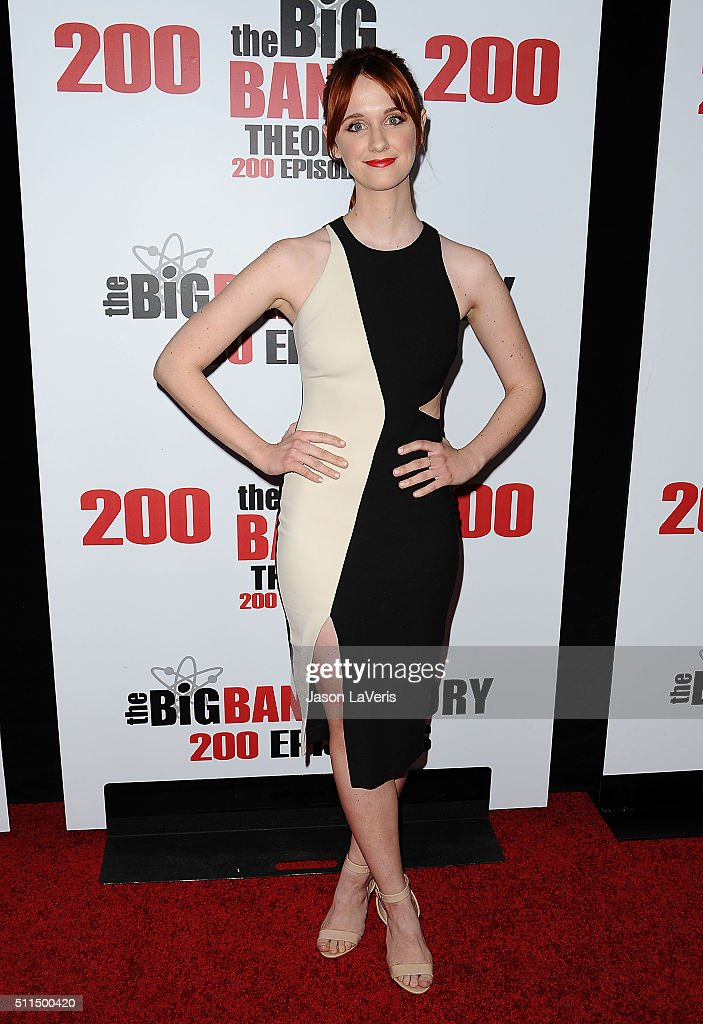 Actress Laura Spencer attends 'The Big Bang Theory' 200th episode celebration at Vibiana on February 20 2016 in Los Angeles California