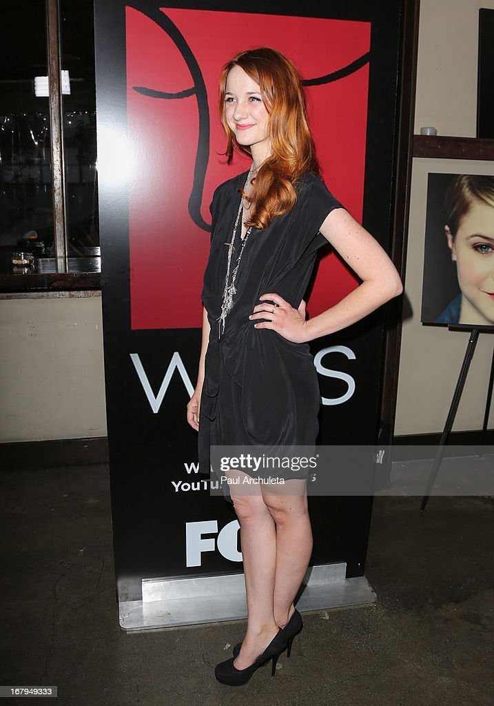 Actress <a gi-track='captionPersonalityLinkClicked' href=/galleries/search?phrase=Laura+Spencer+-+Actress&family=editorial&specificpeople=15433370 ng-click='$event.stopPropagation()'>Laura Spencer</a> attends the one year anniversary celebration for the WIGS digital channel at Akasha Restaurant on May 2, 2013 in Culver City, California.