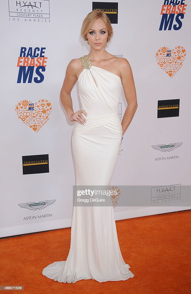 Actress Laura Vandervoort arrives at the 21st Annual Race To Erase MS Gala at the Hyatt Regency Century Plaza on May 2, 2014 in Century City, California.