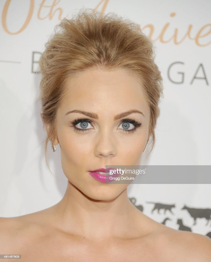 Actress <a gi-track='captionPersonalityLinkClicked' href=/galleries/search?phrase=Laura+Vandervoort&family=editorial&specificpeople=4436690 ng-click='$event.stopPropagation()'>Laura Vandervoort</a> arrives at The Humane Society Of The United States 60th anniversary benefit gala at The Beverly Hilton Hotel on March 29, 2014 in Beverly Hills, California.