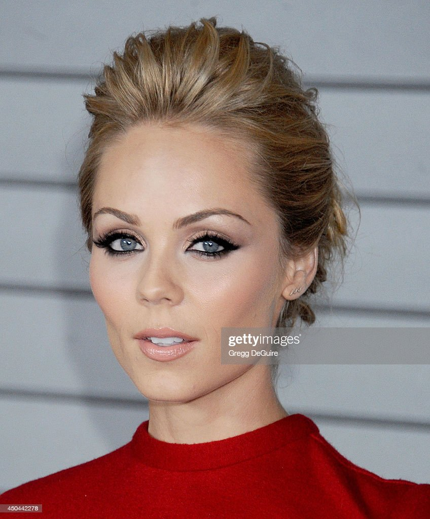 Actress <a gi-track='captionPersonalityLinkClicked' href=/galleries/search?phrase=Laura+Vandervoort&family=editorial&specificpeople=4436690 ng-click='$event.stopPropagation()'>Laura Vandervoort</a> arrives at the MAXIM Hot 100 celebration event at Pacific Design Center on June 10, 2014 in West Hollywood, California.