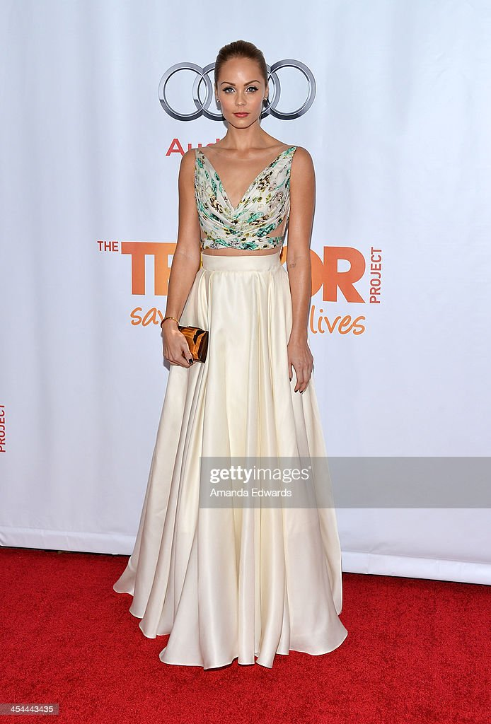 Actress <a gi-track='captionPersonalityLinkClicked' href=/galleries/search?phrase=Laura+Vandervoort&family=editorial&specificpeople=4436690 ng-click='$event.stopPropagation()'>Laura Vandervoort</a> arrives at the TrevorLIVE Los Angeles Benefit celebrating The Trevor Project's 15th anniversary at the Hollywood Palladium on December 8, 2013 in Hollywood, California.