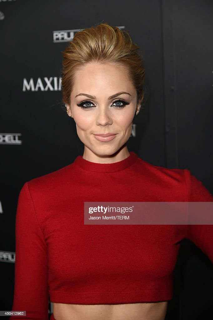 Actress Laura Vandervoort attends Maxim's Hot 100 Women of 2014 celebration and sneak peek of the future of Maxim at Pacific Design Center on June 10, 2014 in West Hollywood, California.