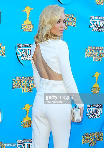 Actress Laura Vandervoort attends the 41st annual Saturn Awards at The Castaway on June 25 2015 in Burbank California