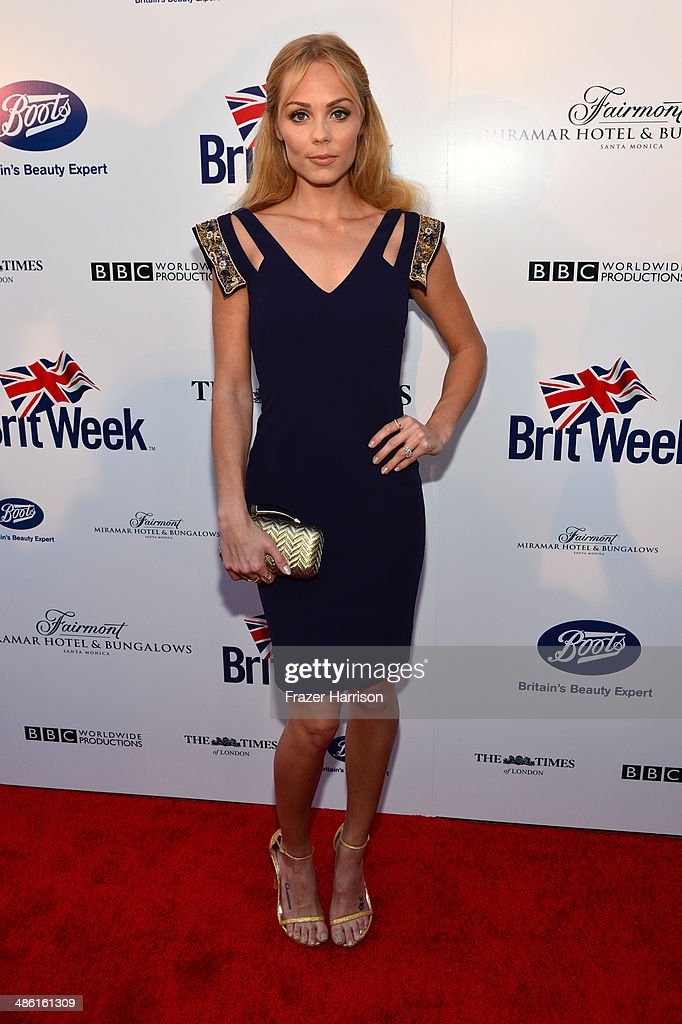 Actress <a gi-track='captionPersonalityLinkClicked' href=/galleries/search?phrase=Laura+Vandervoort&family=editorial&specificpeople=4436690 ng-click='$event.stopPropagation()'>Laura Vandervoort</a> attends the 8th Annual BritWeek Launch Party at a private residence on April 22, 2014 in Los Angeles, California.
