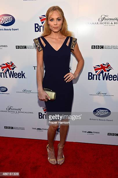 Actress Laura Vandervoort attends the 8th Annual BritWeek Launch Party at a private residence on April 22 2014 in Los Angeles California