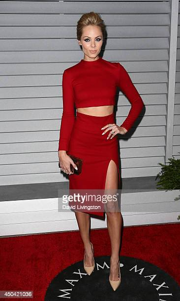 Actress Laura Vandervoort attends the Maxim Hot 100 event at the Pacific Design Center on June 10 2014 in West Hollywood California