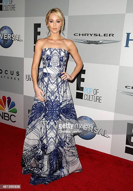 Actress Laura Vandervoort attends the NBCUniversal 2015 Golden Globe Awards Party sponsored by Chrysler at The Beverly Hilton Hotel on January 11...