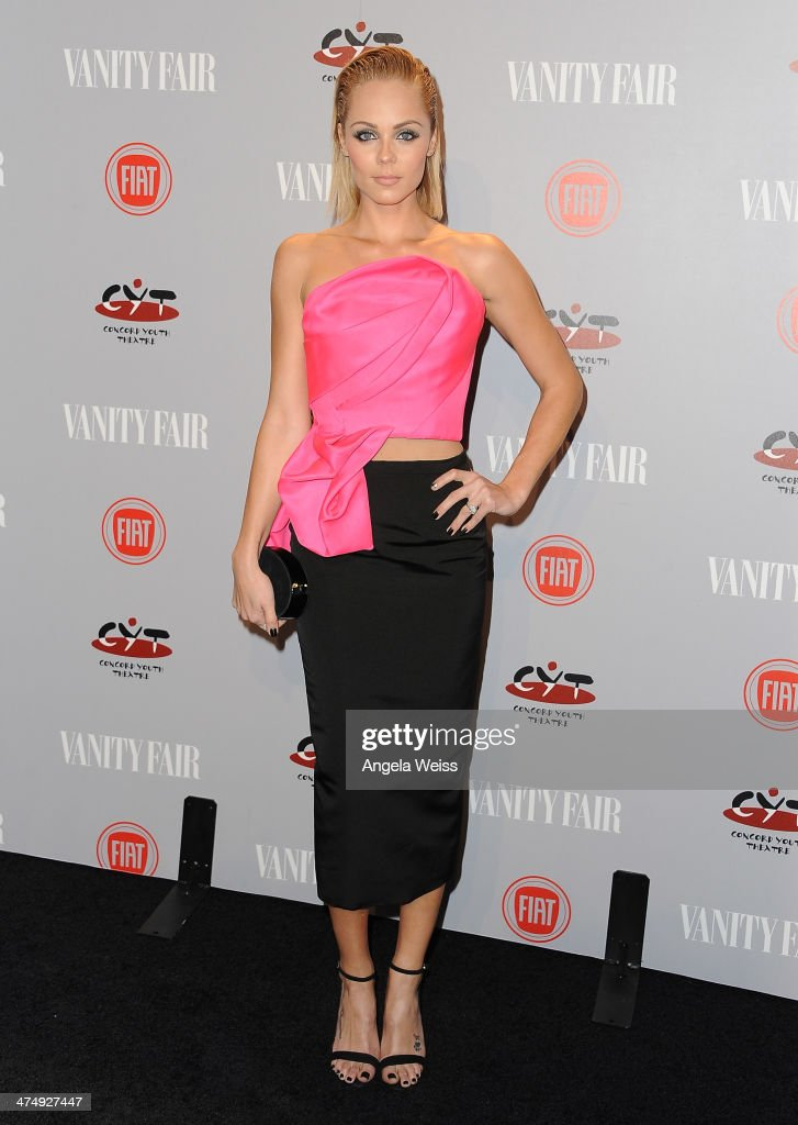 Actress <a gi-track='captionPersonalityLinkClicked' href=/galleries/search?phrase=Laura+Vandervoort&family=editorial&specificpeople=4436690 ng-click='$event.stopPropagation()'>Laura Vandervoort</a> attends the Vanity Fair Campaign Hollywood 'Young Hollywood' party sponsored by Fiat at No Vacancy on February 25, 2014 in Los Angeles, California.