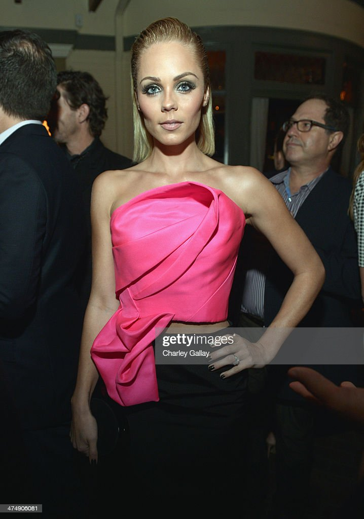 Actress <a gi-track='captionPersonalityLinkClicked' href=/galleries/search?phrase=Laura+Vandervoort&family=editorial&specificpeople=4436690 ng-click='$event.stopPropagation()'>Laura Vandervoort</a> attends Vanity Fair and FIAT celebration of 'Young Hollywood' during Vanity Fair Campaign Hollywood at No Vacancy on February 25, 2014 in Los Angeles, California.