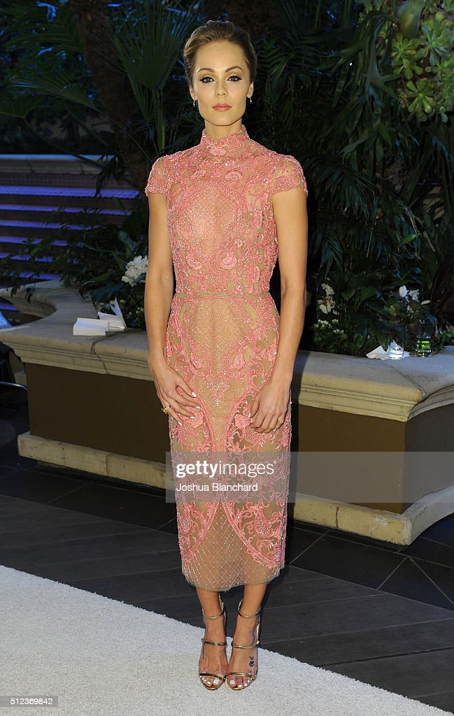 Actress Laura Vandervoot arrives at the 3rd Annual 'An Evening With Canada's Stars' at the Four Seasons Hotel Los Angeles at Beverly Hills on February 25, 2016 in Los Angeles, California.