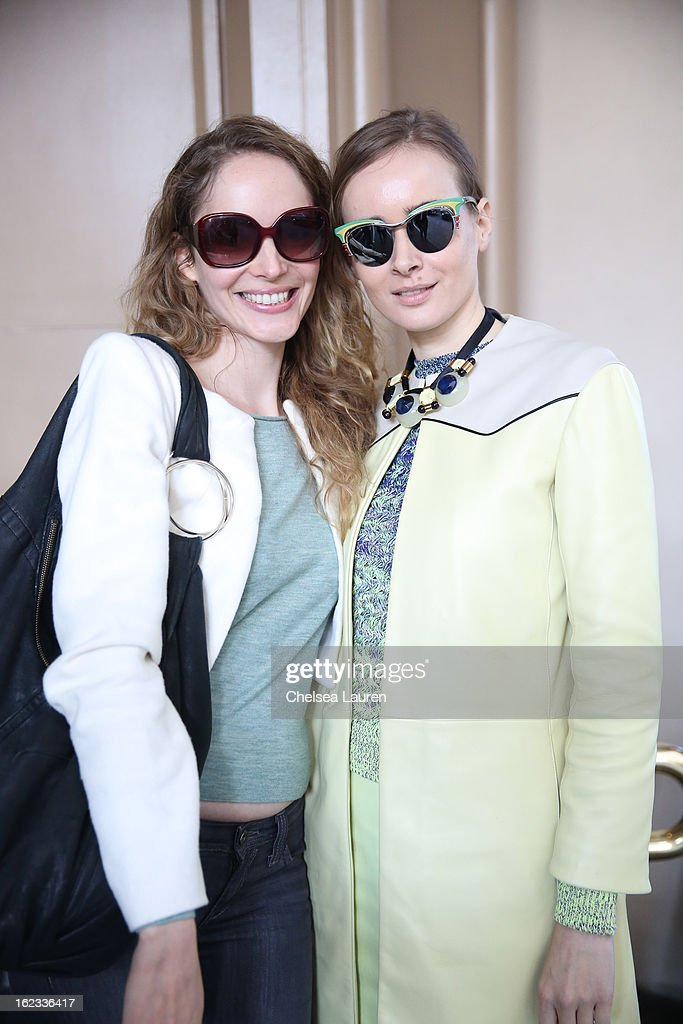 Actress Laura Weissbecker (L) and <a gi-track='captionPersonalityLinkClicked' href=/galleries/search?phrase=Olga+Sorokina&family=editorial&specificpeople=8201470 ng-click='$event.stopPropagation()'>Olga Sorokina</a> are seen at The Beverly Wishire Hotel during the Academy Awards week on February 21, 2013 in Los Angeles, California.