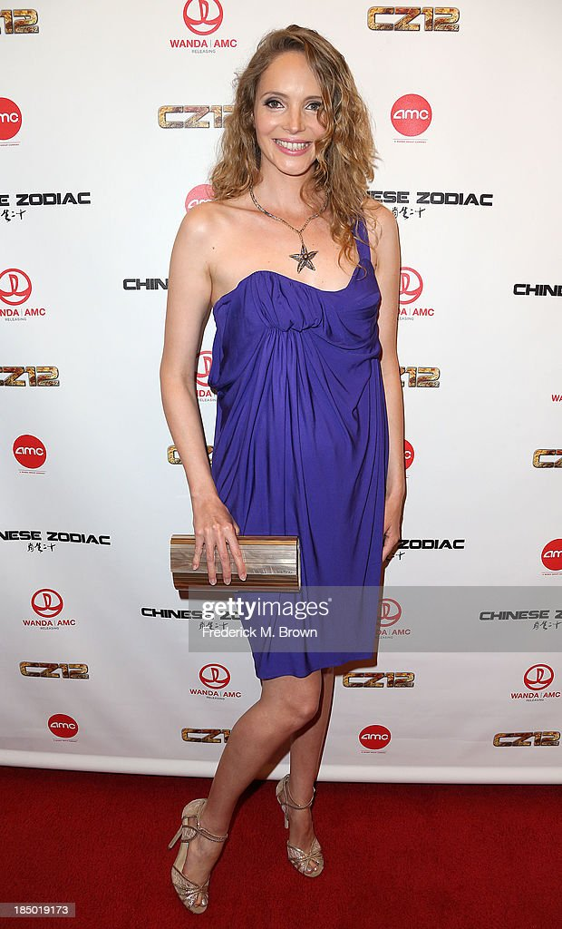 Actress <a gi-track='captionPersonalityLinkClicked' href=/galleries/search?phrase=Laura+Weissbecker&family=editorial&specificpeople=7612898 ng-click='$event.stopPropagation()'>Laura Weissbecker</a> attends the premiere of Wanda and AMC releasing's 'Chinese Zodiac' at the AMC Century City 15 theater on October 16, 2013 in Century City, California.
