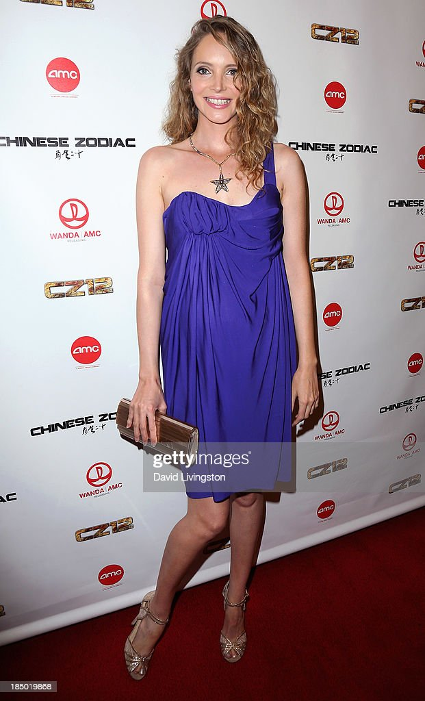 Actress <a gi-track='captionPersonalityLinkClicked' href=/galleries/search?phrase=Laura+Weissbecker&family=editorial&specificpeople=7612898 ng-click='$event.stopPropagation()'>Laura Weissbecker</a> attends the premiere of Wanda and AMC Releasing's 'Chinese Zodiac' at AMC Century City 15 theater on October 16, 2013 in Century City, California.