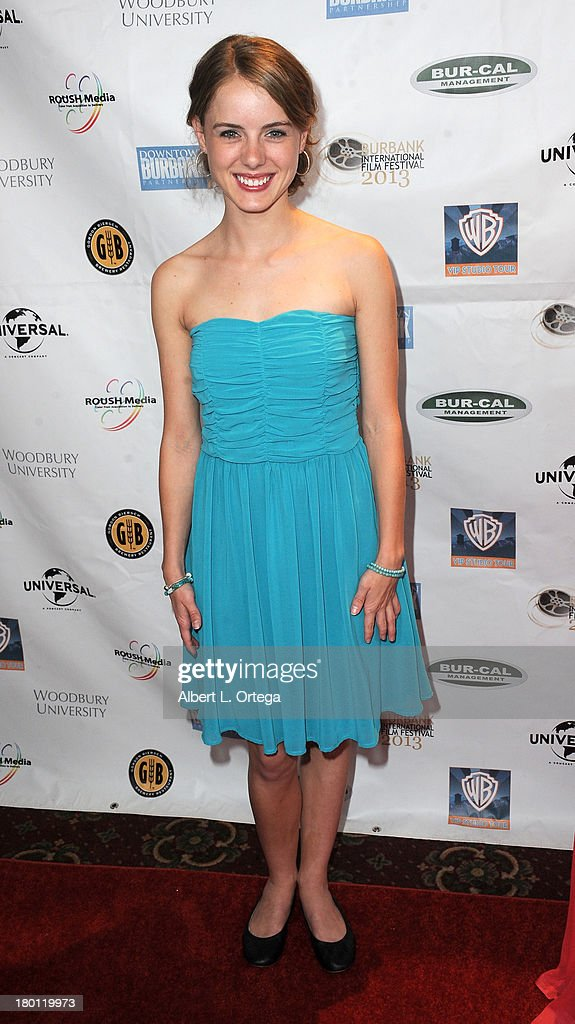 Actress Laura Wiggins arrives for The Burbank Film Festival - Closing Night Gala Dinner and Awards Ceremony held at Castaways on September 8, 2013 in Burbank, California.