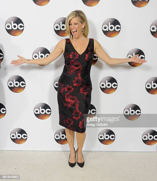 Actress Laura Wright arrives at the 2017 Winter TCA Tour Disney/ABC at the Langham Hotel on January 10 2017 in Pasadena California