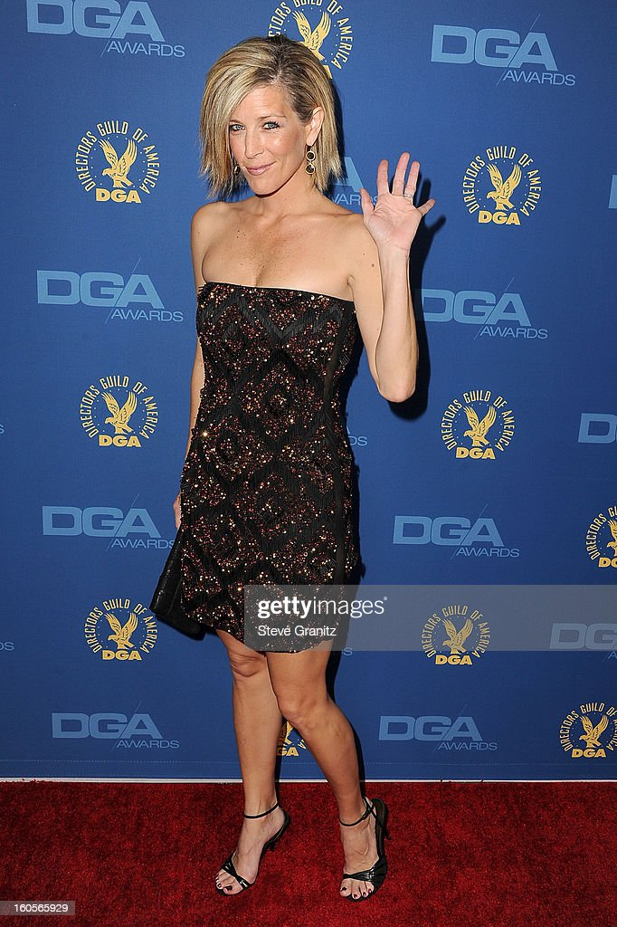 Actress Laura Wright attends the 65th Annual Directors Guild Of America Awards at The Ray Dolby Ballroom at Hollywood & Highland Center on February 2, 2013 in Hollywood, California.