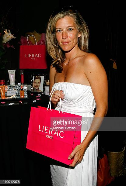 Actress Laura Wright poses in the Daytime Emmy Awards official gift lounge produced by On 3 Productions held at the Kodak Theatre on June 20 2008 in...